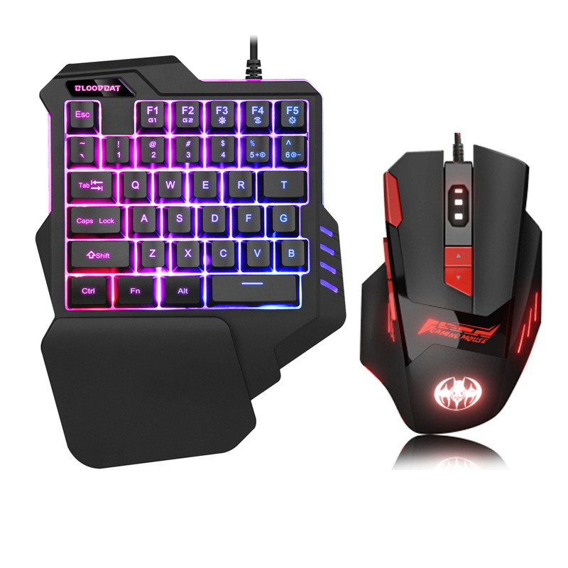 One-Handed Keyboard Colorful RGB Macro Recording Non-Machinery Laptop Computer Gaming Keyboard Chicken Hand Travel Cross Border