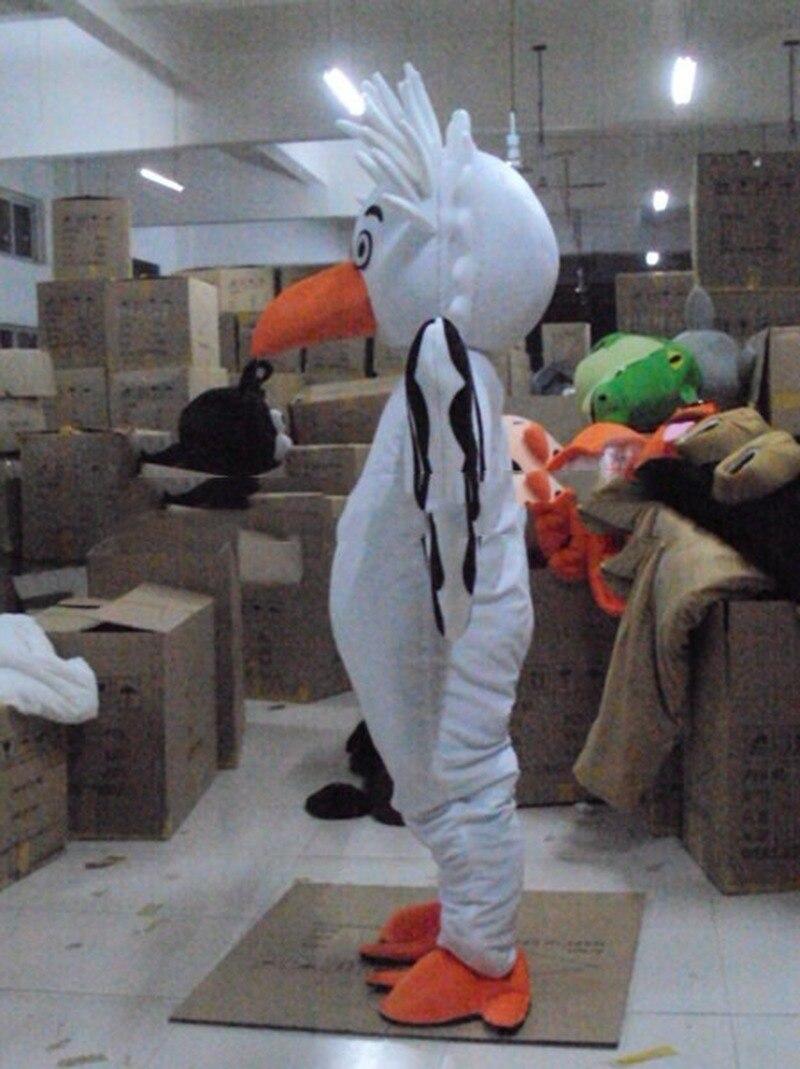 Nouveau Costume de mascotte blanc gros oiseau aigle costumes Cosplay partie jeu robe publicité vêtements intéressants personnage de dessin animé vêtements - 3