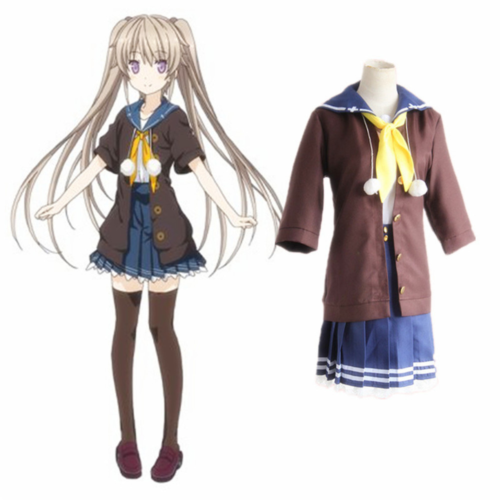 Aokana quatro ritmo através do azul mashiro saia arisaka asuka kurashina cosplay traje anime conjunto completo uniformes escolares traje