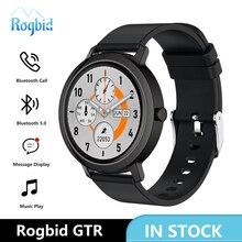 "Rogbid GTR Smartwatch גברים 2020 Bluetooth שיחה עם TWS מוסיקה לשחק MP3 חכם שעון נשים אק""ג קצב לב BP שעון עבור אנדרואיד IOS"