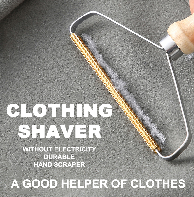 Portable Lint Remover Clothes Fuzz Fabric Shaver Brush Tool Power-Free Fluff Removing Roller For Sweater Woven Coat