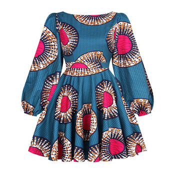 African Dashiki Print Dress Women 2021 Fashion Party African Maxi Dress Women African Clothes Long Sleeve African Dresses Women - FQII003, XL