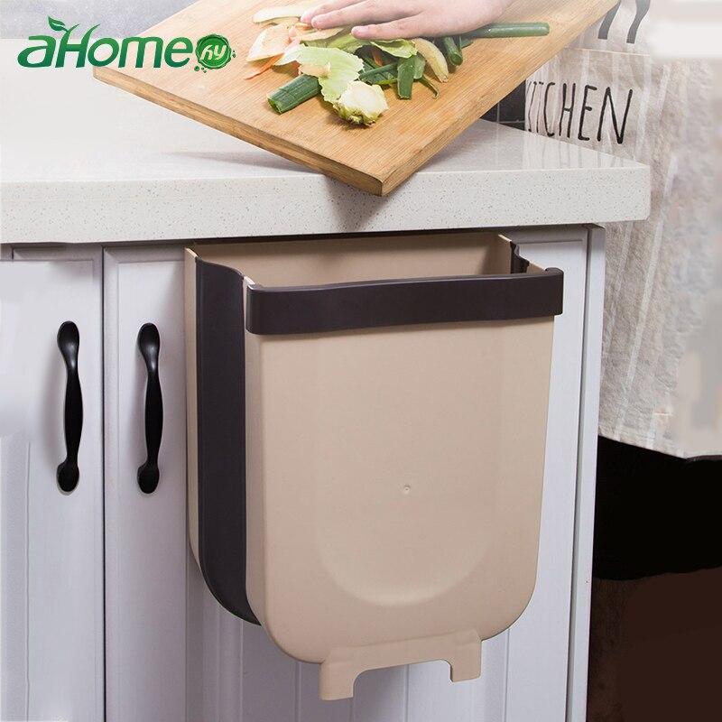9л складные мусорные ящики кухонная корзина для мусора Складная Автомобильная корзина для мусора настенный трашкан для ванной туалет ведро для хранения отходов|Мусорные баки|   | АлиЭкспресс