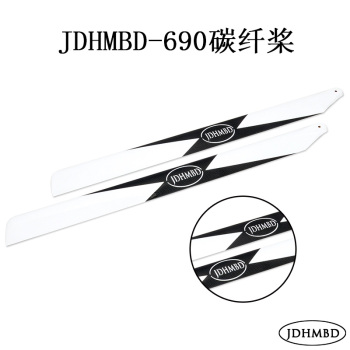 JDHMBD 700 Airplane RC Helicopter Carbon Fiber Propeller Main Propellers 690mm Trex 700/KDS A7