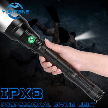 IP8 Waterproof  XHP70.2 Professional Powerful Diving Flashlight White/Yellow Lighting Underwater 200M Scuba Dive Torch for Dive - Category 🛒 All Category