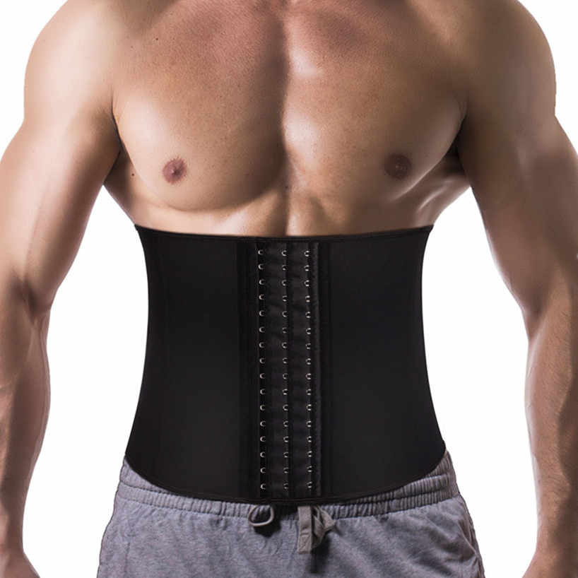 New Losing Weight Shaper Underwear Bellies Modeling Belt Men Body Shaper Waist Trainer Sauna Suit Slimming Belt Corset Men belts