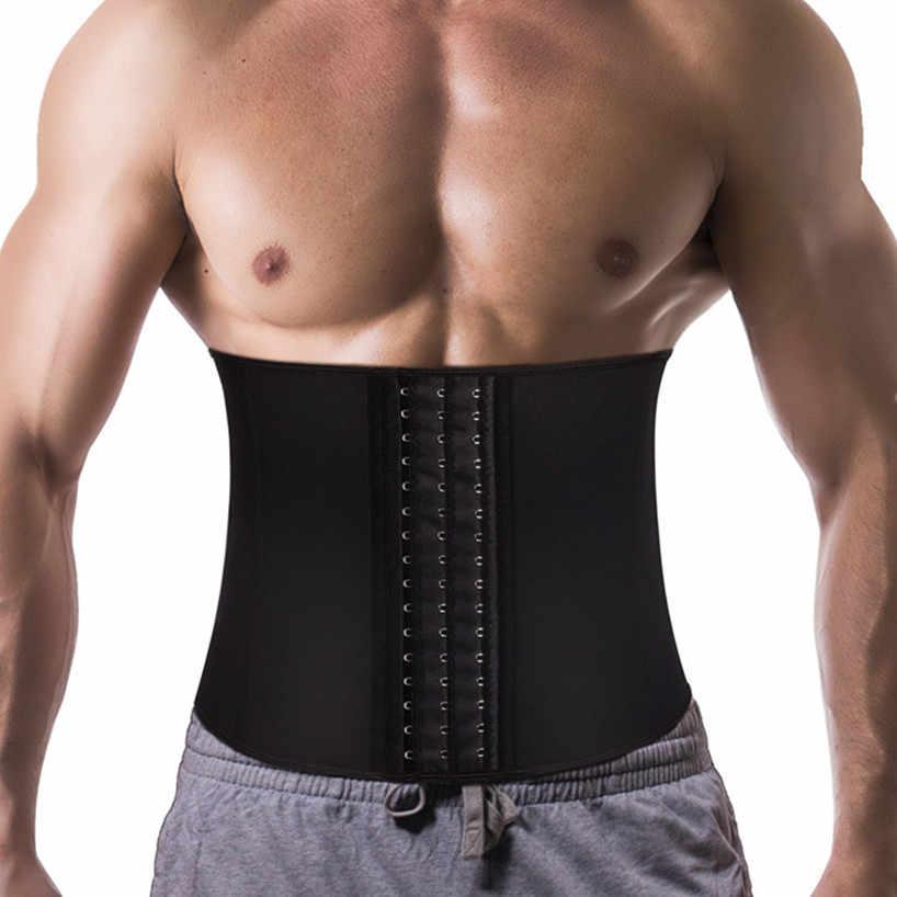 Новинка, Корректирующее белье для похудения, моделирующий пояс для живота, мужской корректирующий пояс для тела, тренировочный костюм для сауны, пояс для похудения, корсет, мужские ремни