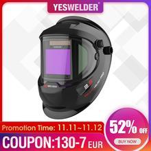 YESWELDER Panoramic 180 Large Viewing Welding Helmet Solar Powered Welder Mask Auto Darkening Welding Hood Side View LYG Q800D