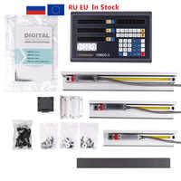 Fivetecnc DRO 3 axis Digital Readout counter+3pcs linear scale travel 100-1020mm for milling lathe machine complete set