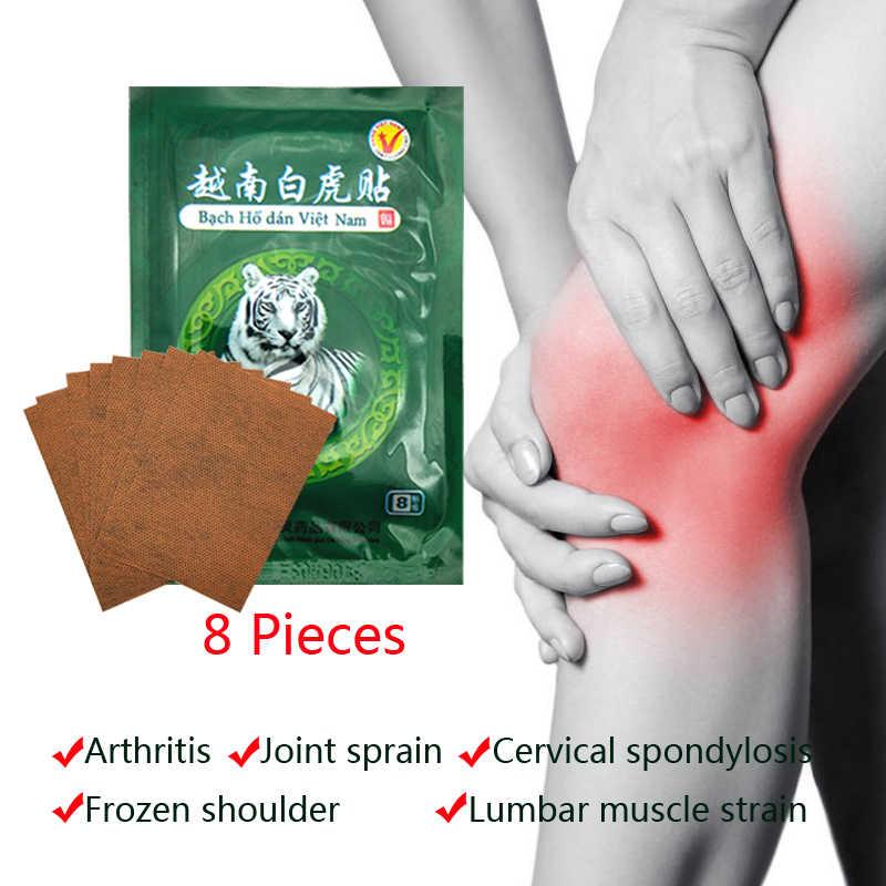 16Pcs Vietnam White Tiger Balm Pijn Patch Spier Schouder Nek Artritis Chinese Kruiden Medische Gips