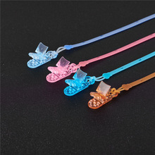 Chain Pacifier-Clips-Holder Silicone Baby 1pcs Security Five-Star