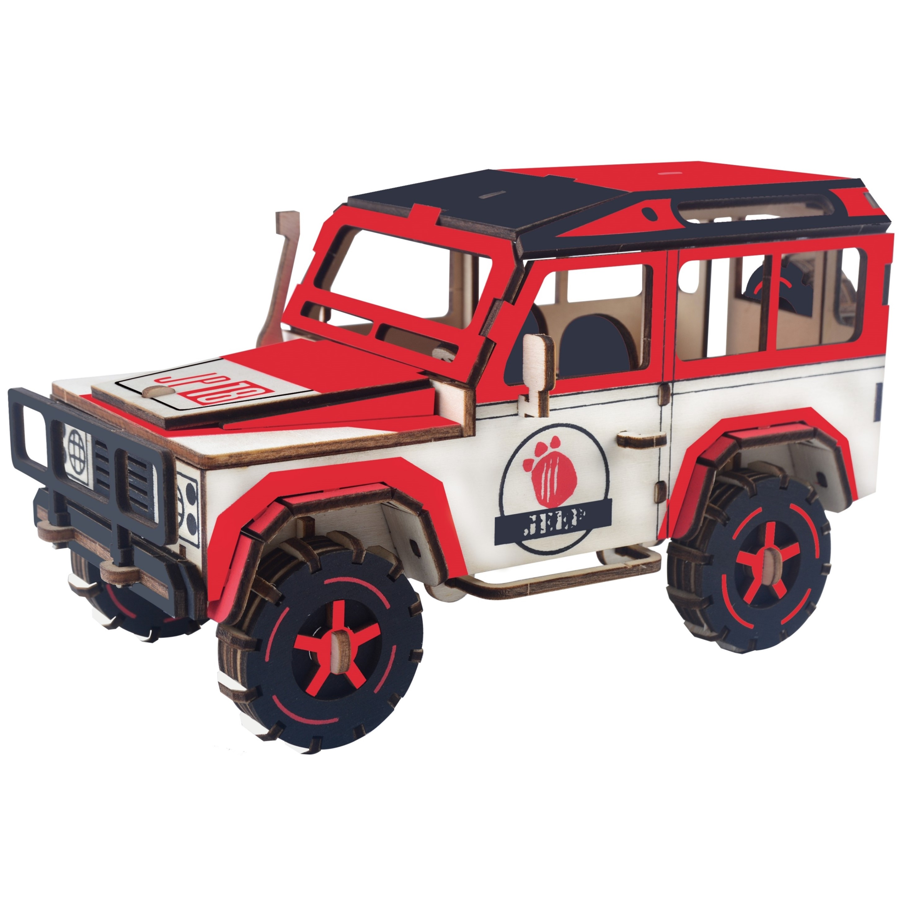DIY Assembly Vehicles Model Toy 3D Puzzles Game Kit Kids Childrens Wooden Toys