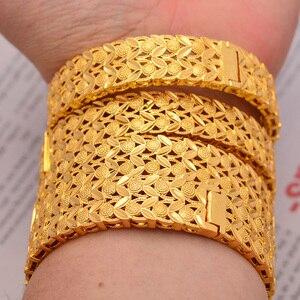 Image 3 - Wando Große Grand luxe Öffnen Armbänder & Armreifen für Frauen/Mädchen Dubai Frankreich Hochzeit Armreifen Armband Nahen Osten schmuck geschenk