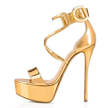Super High Heel Sandals Women Gladiator Platform Sandals Cro