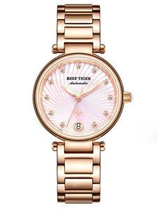 Diamond Tiger/rt Watches Bracelet Women Ladies Relogio Pink Date Feminino Luxury Gift