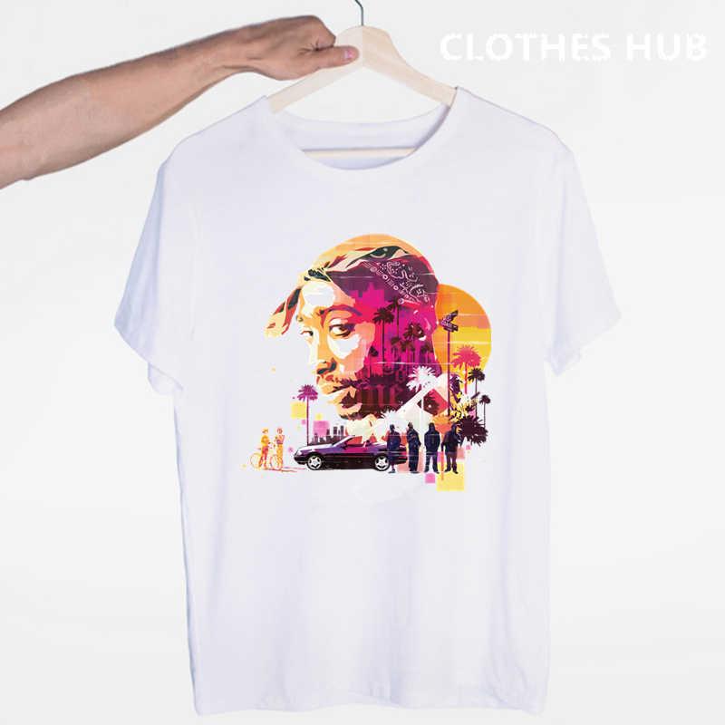 Tupac 2pac Hiphop Swag Streetwear T-shirt O-hals Korte Mouwen Zomer Casual Mode Unisex Mannen En Vrouwen T-shirt