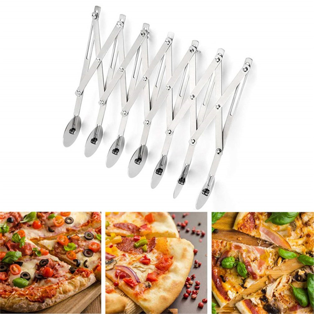 3/<font><b>5</b></font>/7 <font><b>Wheels</b></font> <font><b>Cutter</b></font> Dough Divider Side Pasta Knife Flexible Roller Blade Pizza Pastry Peeler Stainless Steel Bakeware Tools image