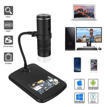 1000X Digital Microscope HD 1080P LED USB WiFi Mobile Phone Camera for Smartphone PCB Inspection Tools