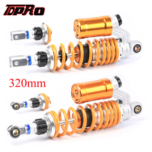 TDPRO 12.5 320mm 400lbs Eye to Clevis Rear Damper Air Shock Absorber Suspension For Motorcycle ATV Go Kart Quad Bike ATV Buggy tdpro 285mm 11shock absorber rear suspension for motorcycle pit dirt pocket bike atv quad buggy