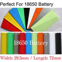 20 piezas-Tubo termorretráctil de PVC con batería Lipo 18650, ancho de 29,5mm x 72mm de longitud, película de aislamiento, funda protectora, paquete de funda de Cable de alambre
