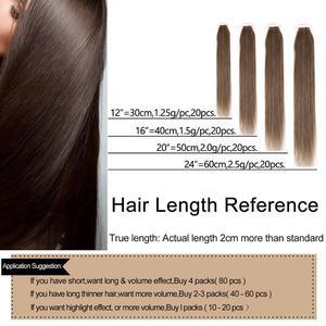 "Image 3 - Neitsi מיני קלטת שיער טבעי דבק הרחבות שאינו רמי ישר Weft עור Invisible טבעי שיער 12 ""16"" 20 ""בלונד צבע"