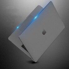 Прозрачный матовый чехол для Apple MacBook Air Pro, чехол для 13, 12, 15, 16 дюймов, A1932, A1466, A1706, A2141, с сенсорной панелью