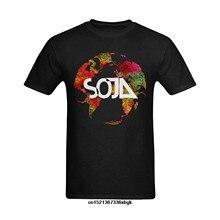 2018 venda quente nova camisa de t curto definir-me soja logotipo com terra arte design camiseta