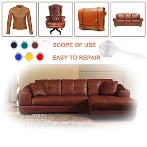 Image 2 - LUDUO bricolage Kit de réparation en cuir liquide meubles en vinyle peinture sièges de voiture canapé chaussures veste peau restaurer nettoyant remettre à neuf avec tissu