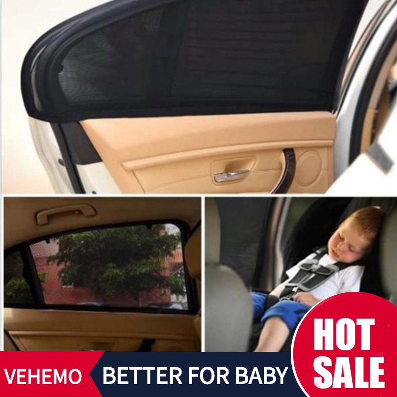 4Pcs Car Sun Shade UV Protection Car Curtain Car Window Sunshade Side Window Mesh Sun Visor Summer Protection Window Film