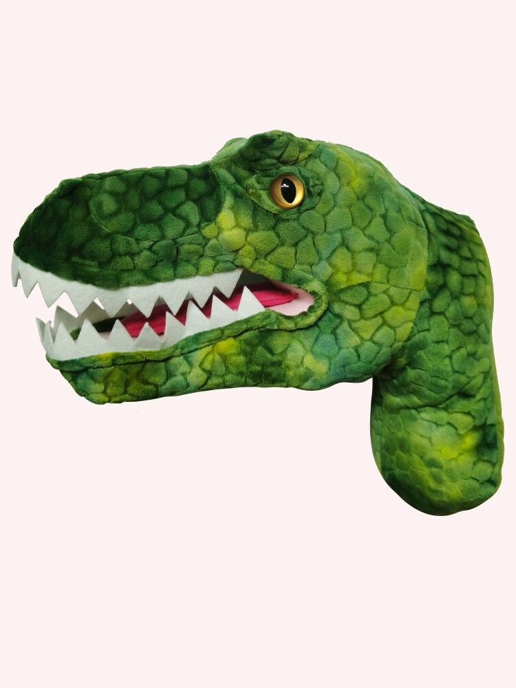 Image 2 - 2020 New design promotion gift  T Rex Head for wall decorationReal Life Plush   -