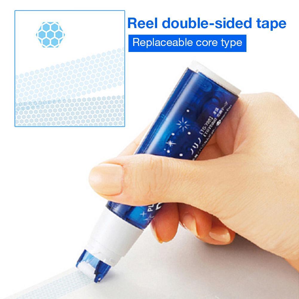 Plastic Adhesive Tape Dispenser Double Sided Tape Holder Dispensing Plastic Stationery Reel Dot Glue School Students Supplies