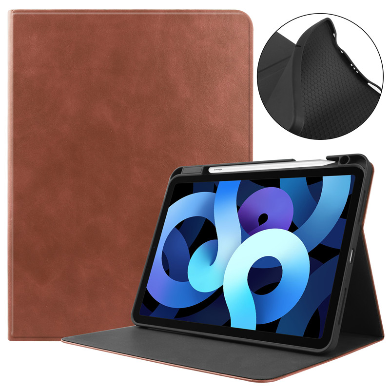 Brown Purple Tablet Case With Pencil Holder Fundas For Apple IPad Air 4 Case 10 9 inch 2020