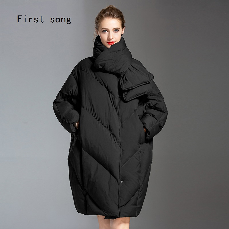 Women 39 s 90 white duck down jacket jacket 2019 new coating Parka high quality warm thin section loose X Long women 39 s down jacket in Down Coats from Women 39 s Clothing