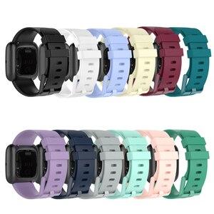 Image 5 - Acessórios de pulseira para fitbit versa 2, pulseira de silicone macio à prova dágua pulseira de relógio para substituição para fitbit versa/versa 2