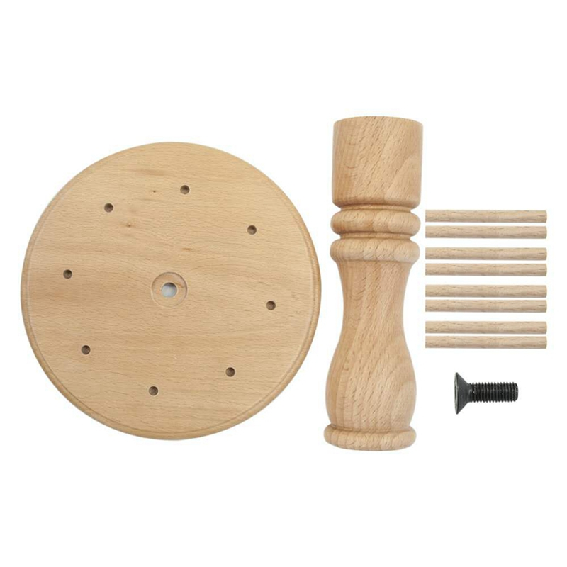 Spool Cone Thread Stand Thread Rack Wooden Thread Holder Sewing Solid Spool Rack,Embroidery Beaded Thread Tool for Home