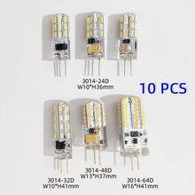G4 conduziu a lâmpada 10 pçs mini 2w 3 5 9 12 lâmpada ac dc12v 220v vela luzes de silicone halogênio para lustre holofotes 360 ângulo de feixe