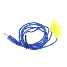 3.5mm Radio Noise Cancelling Foam Earbuds Mono Racing Speaker Headset Cable Line AXYF