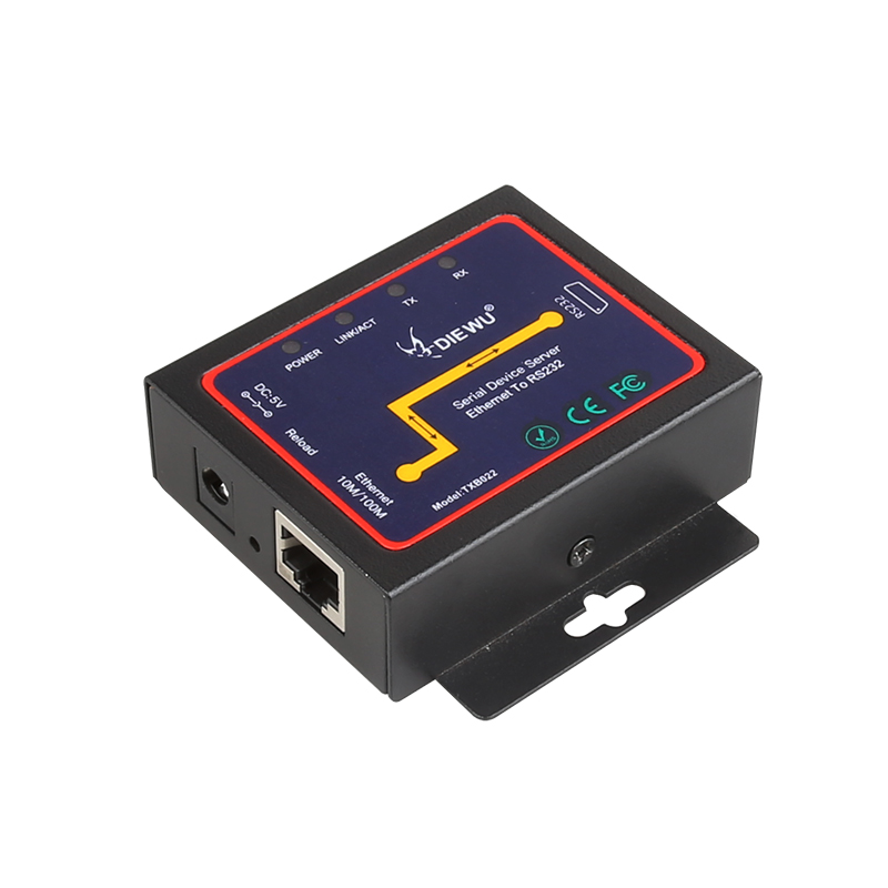 DIEWU RS232 Serial Port Server To Ethernet Port Serial Device TCP/IP Network Communication Band Management