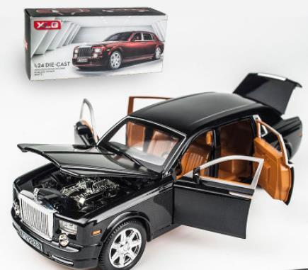 1/24 Diecasts & Toy Vehicles Rolls-Royce phantom Car Model With Sound&Light Collection Car Toys For Boy Children Gift brinquedos