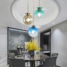 Modern Colorful LED Pendant Lights Lighting Glass Ball Pendant Lamp Living Room Restaurant Bar Kitchen Light Fixtures Luminaire цена 2017