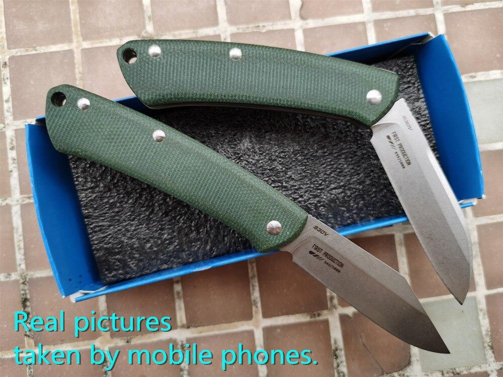 Fruit S30v G10 318 Pocket Proper Gentleman Blade Camp EDC Micarta Outdoor  Tool Mark  Handle  319 Hunt Knife  Utility Folding