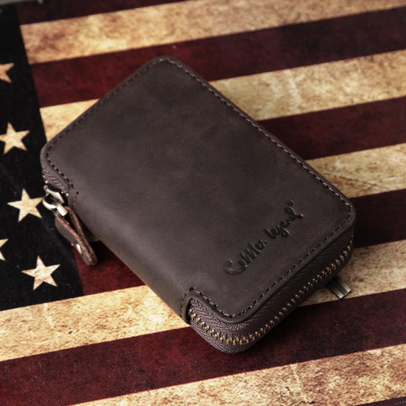 Cobbler Legend Vintage Genuine Leather Key Holder Wallet Men's Wallets