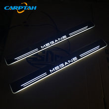 CARPTAH Trim Pedal Car Exterior Parts LED Door Sill Scuff Plate Pathway Dynamic Streamer light For Renault Megane 2015 - 2018(China)
