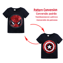 Boys Clothes Summer Cotton Magic T-Shirt Kids Clothes Cartoon Spiderman T-Shirt Short Sleeve Tops For Baby Boy Children Clothing love kids baby boys clothes cool summer superman short sleeve t shirt cotton tops clothes lxl
