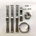 Браслет из нержавеющей стали 316L с заклепками, 20 мм, подходит для часов Rolex и Seiko