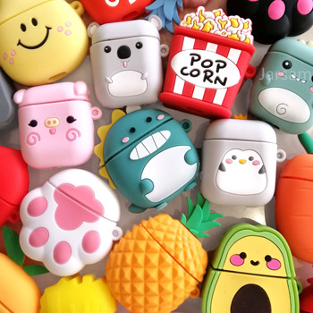Cartoon For airpods case Silicone Cover For airpods Case Cute Earphone 3D Headphone case Protective 3d minions earphone case for airpods pro case cute soft silicone wireless for airpods pro case cover cartoon protective cover