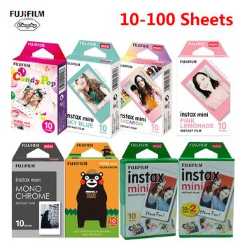 Fujifilm Instax Mini Film opcjonalna ramka na zdjęcia 10-100 arkuszy papier fotograficzny do Instax Mini 9 Mini 8 Instant Mini 70 90 Film 2020 tanie i dobre opinie MagiDeal Folia błyskawiczna CN (pochodzenie) Fujifilm Instax Mini 8 9 White Film