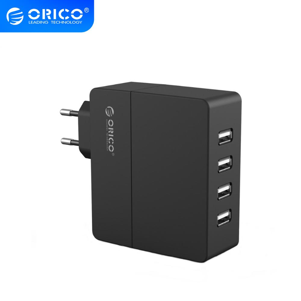 ORICO Portable Wall Travel <font><b>Charger</b></font> 4 Port <font><b>30W</b></font> <font><b>USB</b></font> <font><b>Charger</b></font> for Phone Tablet <font><b>USB</b></font> Devices EU/AU/UK/US plug <font><b>Charger</b></font> image