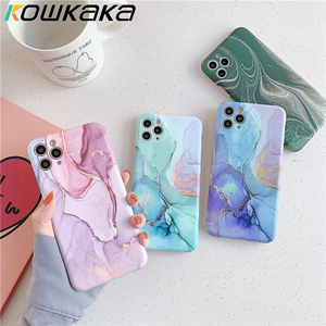 Kowkaka Vintage Marble Phone Case For iPhone 11 Pro Max X XR XS Max 7 8 Plus Luxury Bling Fundas Camera Protection Back Cover