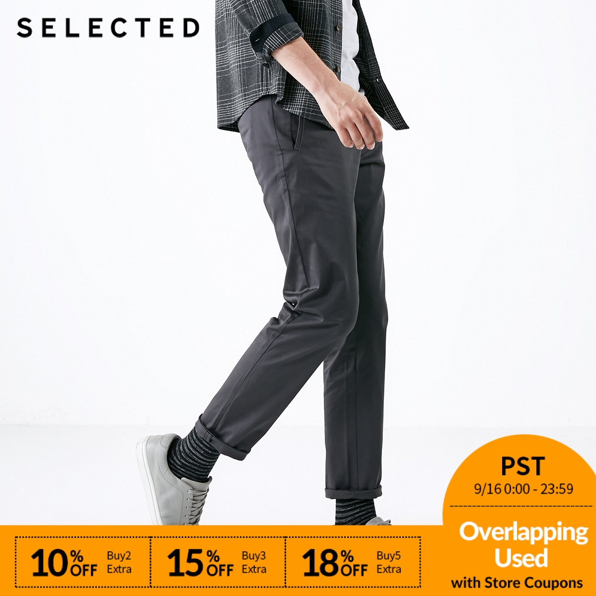SELECTED Men's Autumn & Winter Regular Fit Casual Pants S419114512-in Casual Pants from Men's Clothing    1